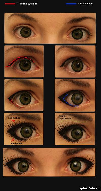 Как макияжем сделать глаза большие